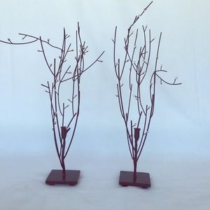 Crystal branch candle holder (pair)